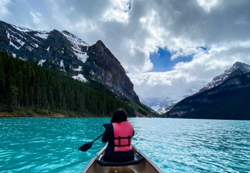 Kayaking/Canoeing in Lake Louise, Alberta