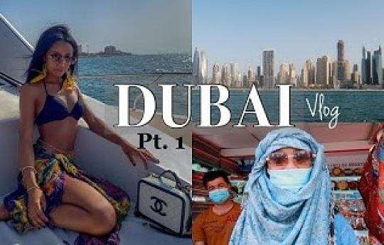 DUBAI TRAVEL VLOG 2021 pt. 1 | 15 Hr Flight, Breakfast at Drift Beach, Yacht Cruise (Dubai Marina)😍