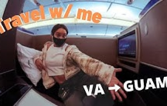 Travel with me (Travel Vlog) IAD to GUAM | feb 2021