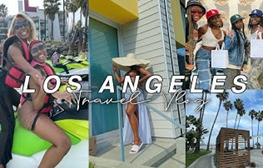 GIRLS TRIP TO LOS ANGELES VLOG🌴 | SPRING BREAK 2021 + jet skis, beach airbnb, and MORE