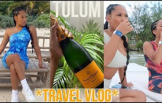 VLOG: Tulum, Mexico!   TRAVELING DURING COVID   VACATION VLOG   ALEXIS GRIER