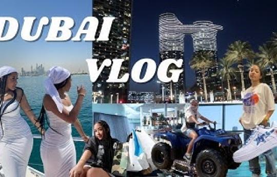 Dubai Travel Vlog 2021! Yacht Tour, Desert ATVs, Shopping at the Dubai Mall, Top Golf, Food, + More